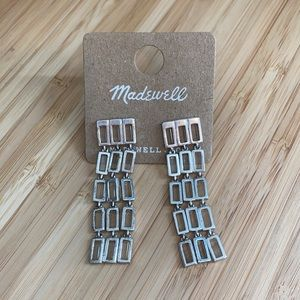 NWT Madewell After Midnight Chandelier Earrings